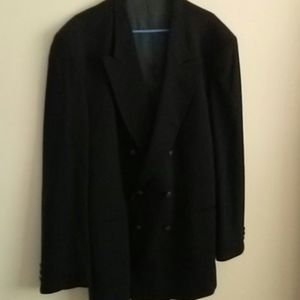 Classic Double-breasted Man's Navy Blazer